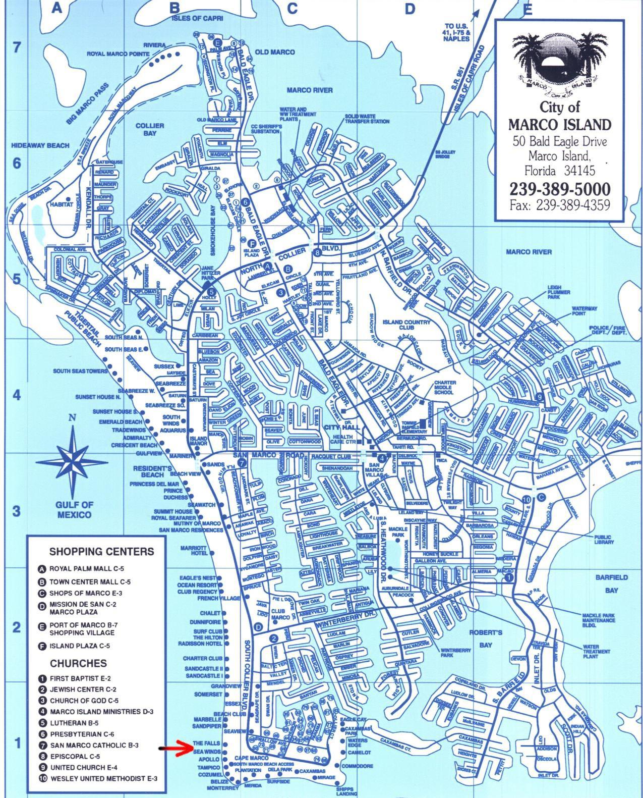 Map Of Sanibel Island Beaches Beach Sanibel Captiva Marco Island - Florida map showing marco island
